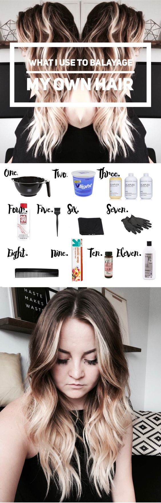 What I Use To Balayage My Own Hair Hair Highlights