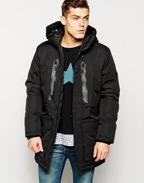 Jack Jones Parka With Thinsulate And Bonded Seams Mens Coats Jacket Design Coat