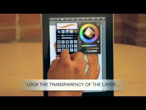 sketchbook pro ipad tutorial video - just needs a Bamboo