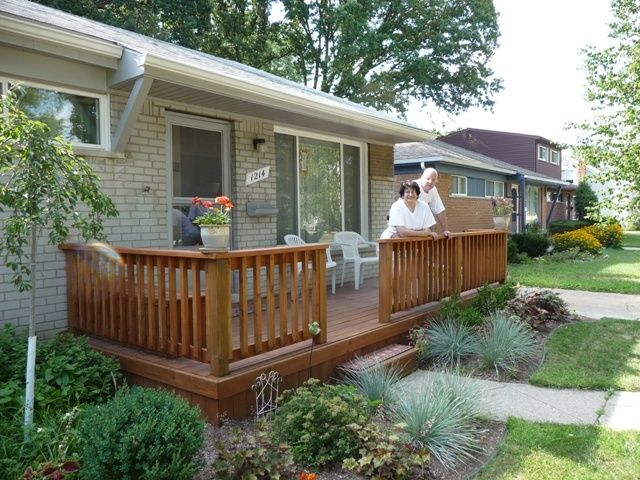 front decks on ranch houses | Deck for ranch home | Front porch ...