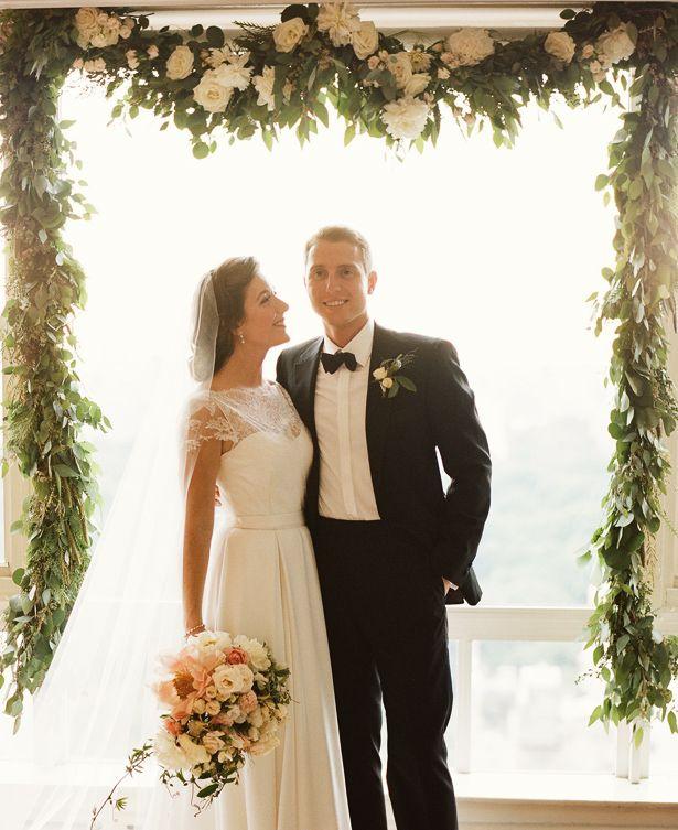 Dress & Veil: Katie Ermilio; Flowers: Amy Merrick