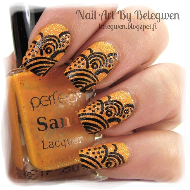 Nail Art by Belegwen: Perfect Sand Lacquer S70