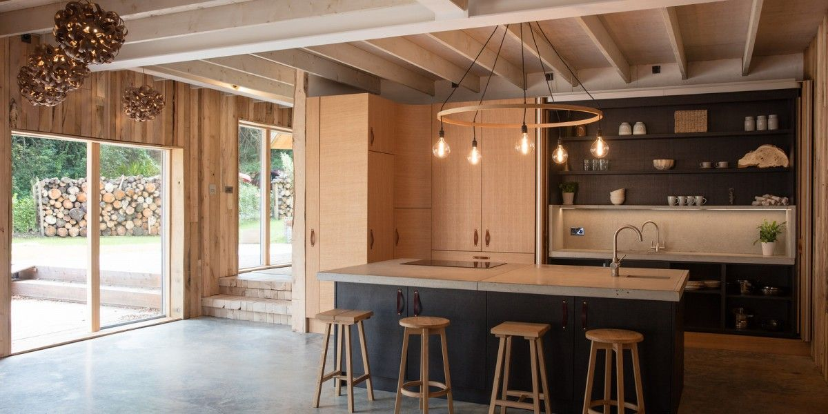 Kitchen Design In The Home Of Designer Tom Raffield As Featured On Grand  Designs. Oak And Black Kitchen In A Modern Country Style