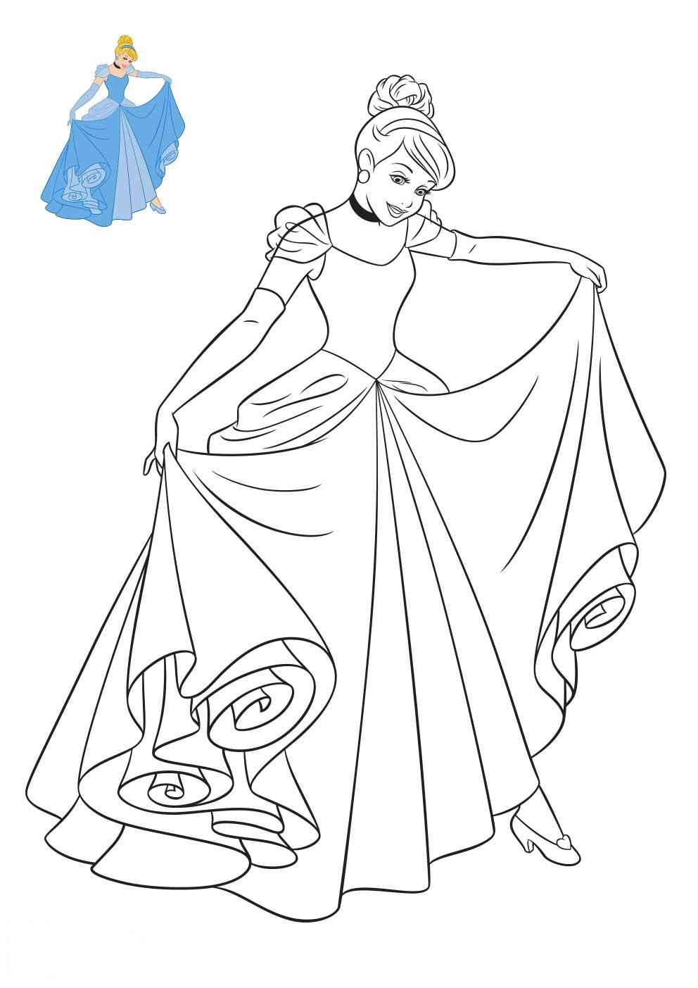 Coloriage Princesses Disney Coloriage Princesse Disney Coloriage Princesse Coloriage Cendrillon