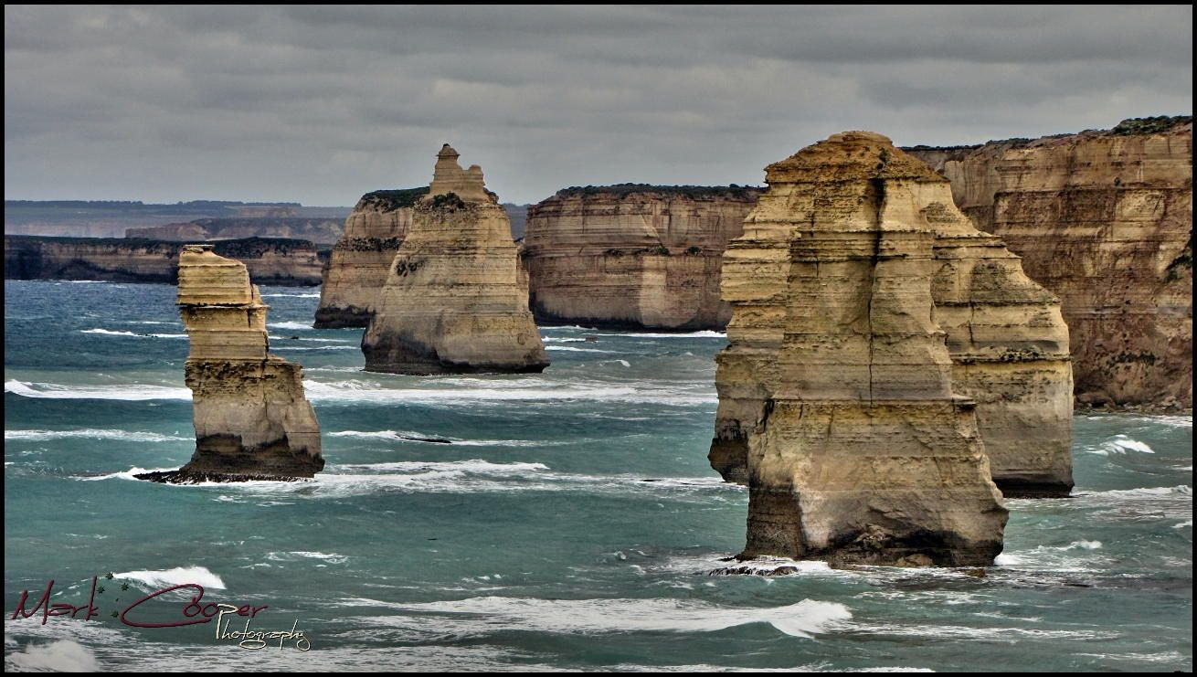 The Twelve Apostles are a collection of limestone stacks off the shore of the…