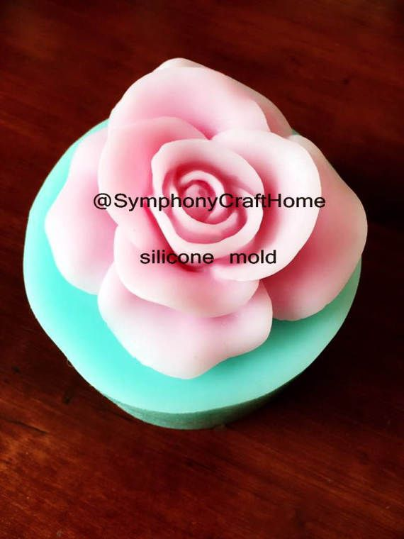 rose silicone mold rose bloom mold rose soap by