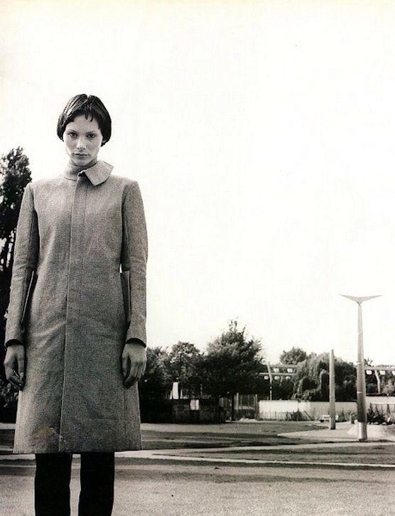 Reverse Denim coat by BLAAK in Sky magazine Dec 1998