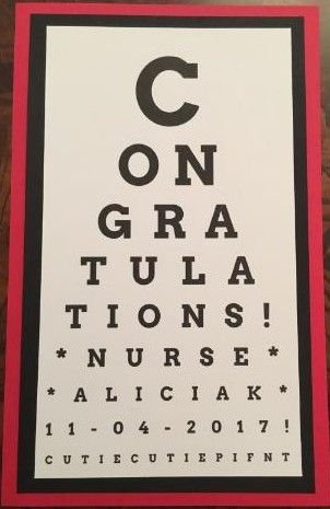 Nurse Graduation Party Congratulations Eye Chart Used A Free Chart Maker On Line Nursing Graduation Party Nursing School Graduation Party Nurse Party