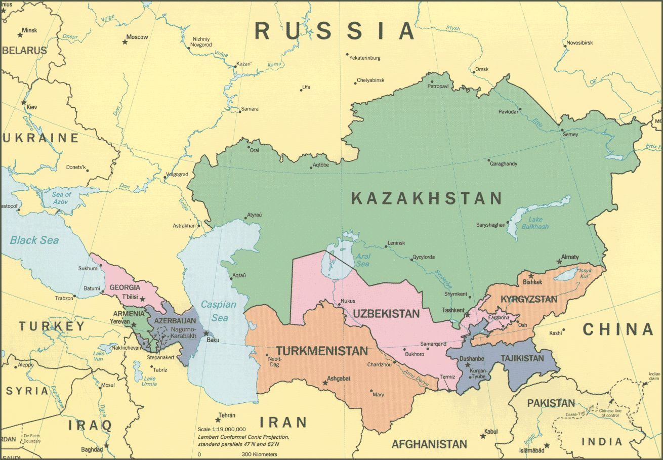 uzbekistan-map | Turan People | Central asia map, Asia map ...