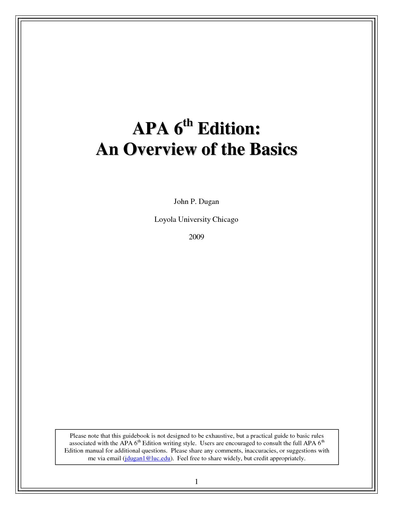 Sample Say In Apa Format 6th Edition Template 83fukmw Pertaining To Word Best P Style Essay