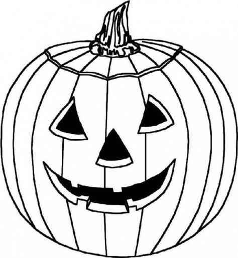 Halloween Pictures To Color Pumpkin