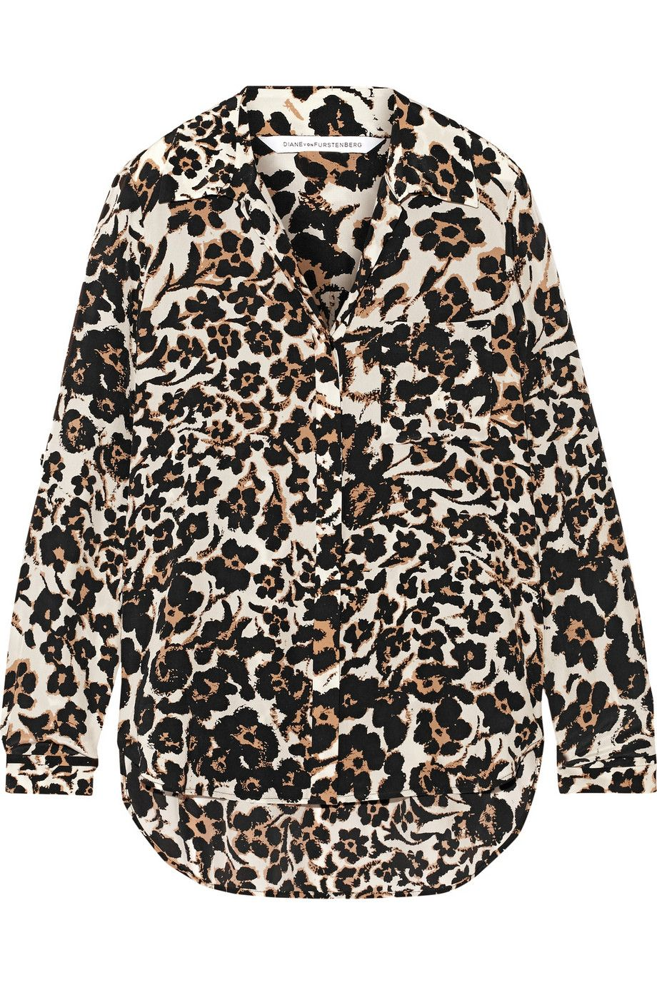 DIANE VON FURSTENBERG Lorelei Printed Silk Shirt. #dianevonfurstenberg #cloth #shirt
