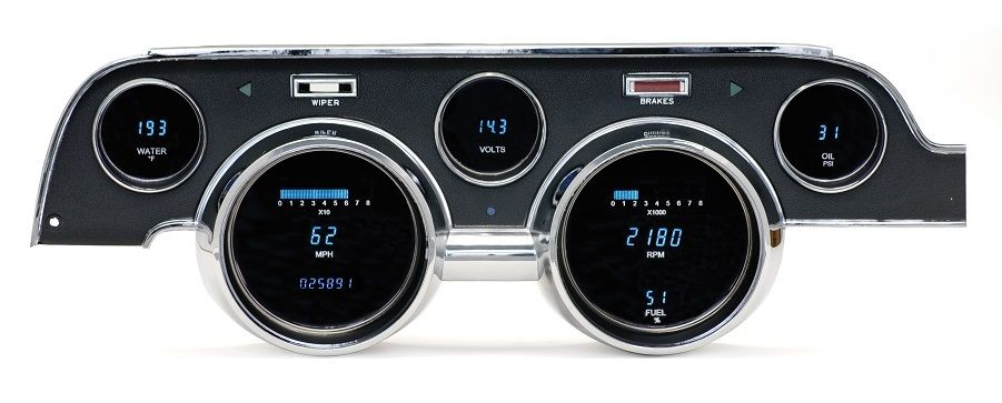 DAKOTA DIGITAL DASH 67 FORD MUSTANG 6 GAUGE CLUSTER w/CAMERA CASE BEZEL VFD3-67M - Phoenix Tuning
