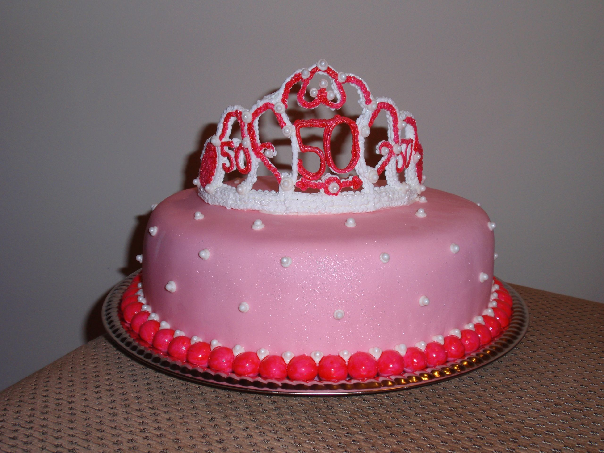 Pillow Cake with Tiara cake topper   Tiara cake topper