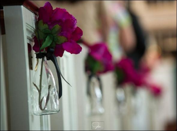 DIY Pew Decorations : Wedding Aisle Decor Ceremony Diy