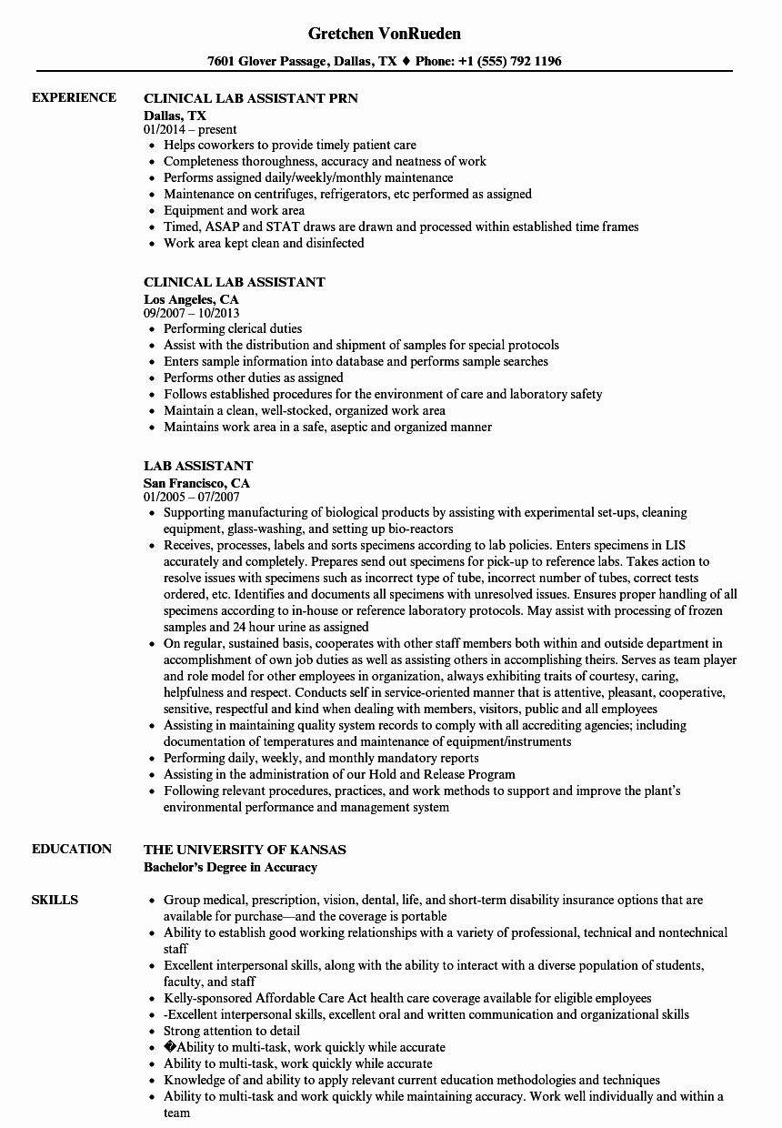 Research Assistant Resume Examples Inspirational 13 Laboratory Assistant Cv In 2020 Medical Assistant Resume Resume Objective Statement Resume Objective