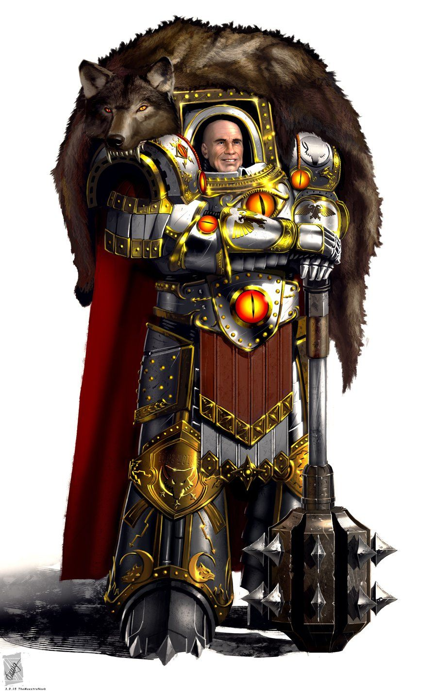 Horus Lupercal Primarch of the Luna Wolves (later to be ...  Horus Lupercal ...