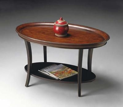 Butler Specialty - Butler 1591104 - Hand Painted Oval Coffee Table with Café Noir Finish #1591104