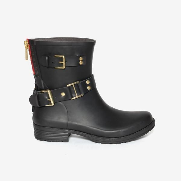2752803778e Colors of California Camperos Rubber Ankle Boots feature a back zip ...