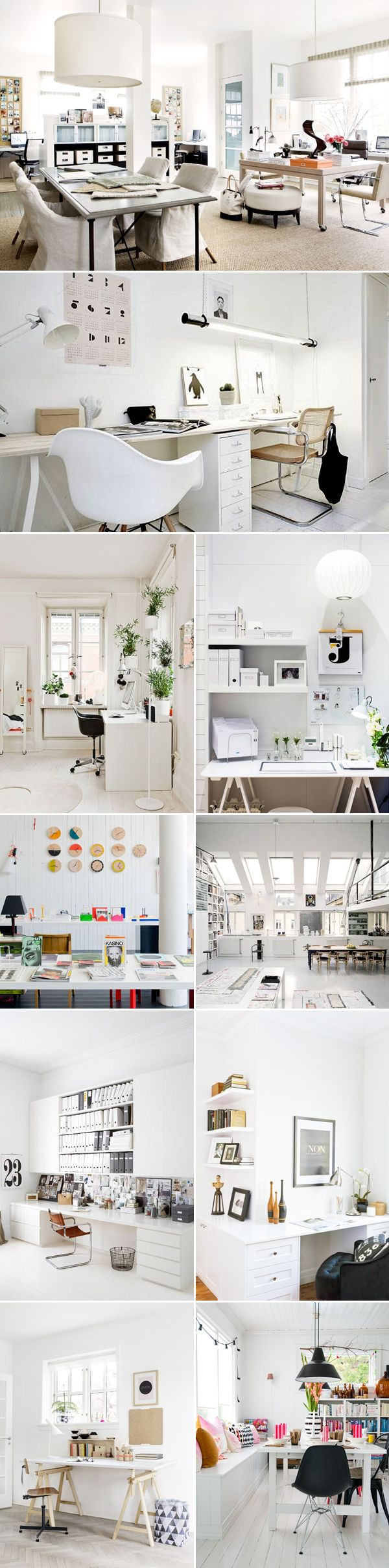 20 simple and stylish home office designs office designs for Simple home office ideas
