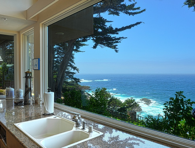 Beautiful ocean views from kitchen this is what i for 1800x1200 window