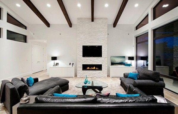 kamin tv. bild 1 bild 2. der kamin tv die rolle des designers, Wohnzimmer design