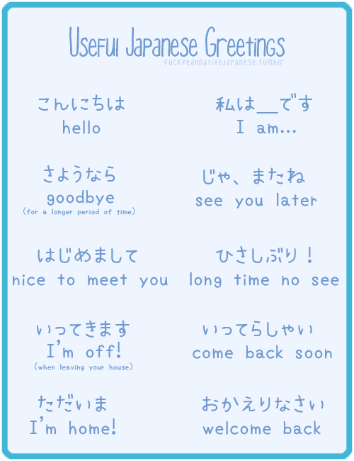 Greetings in japanese languages pinterest japanese greetings in japanese m4hsunfo Images