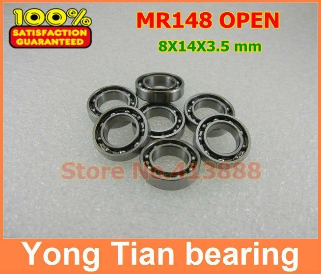 Free shipping 50 piece/lot miniature bearing MR148 L-1480 OPEN 8*14*3.5 mm for Rc hobby and Industry #Affiliate