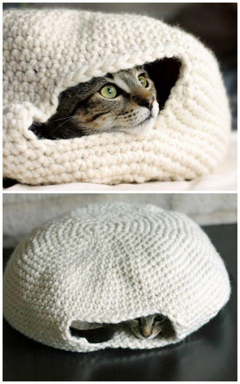 Pin de Martina Cucullu Lim en Crochet cat bed   Pinterest