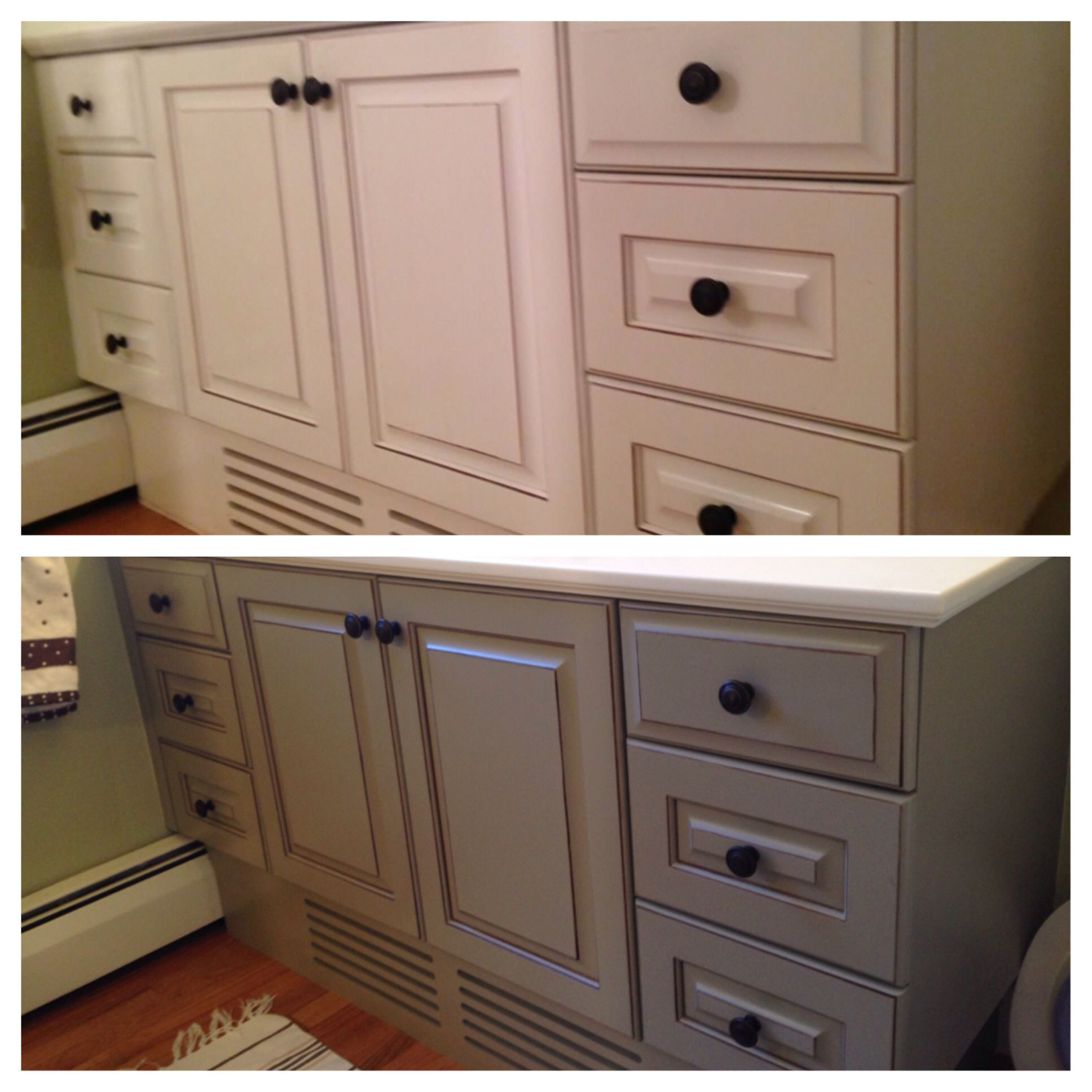 My Bathroom Vanity: Before & After..chalk Paint DIY Using