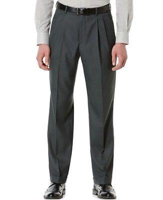 Perry Ellis Portfolio NEW Gray Mens Size 38x32 Pleated Front Dress Pants $65 118