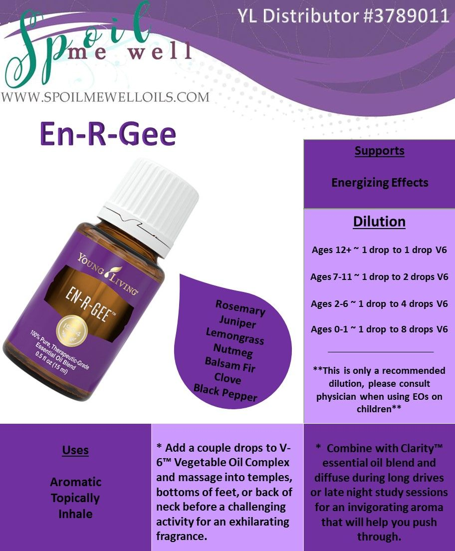 En-R-Gee Essential Oil, Young Living Essential Oils