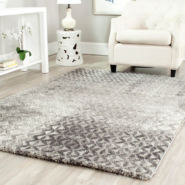 Safavieh Porcello Modern Distressed Grey Area Rug 4 X 5 7 By