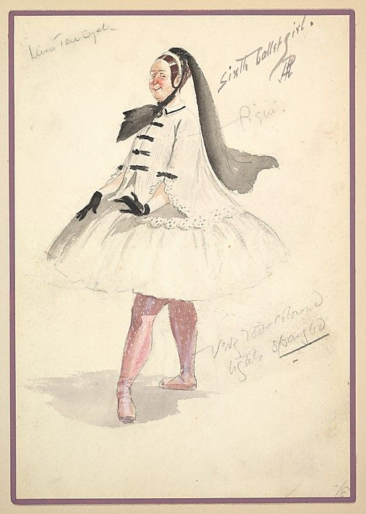 Percy Anderson (British, 1850/51–1928 ). Costume Design for 'Sixth Ballet Girl,' 1901. The Metropolitan Museum of Art, New York. Gift of Frank Cambria, 1960 (60.588(17)) #dance