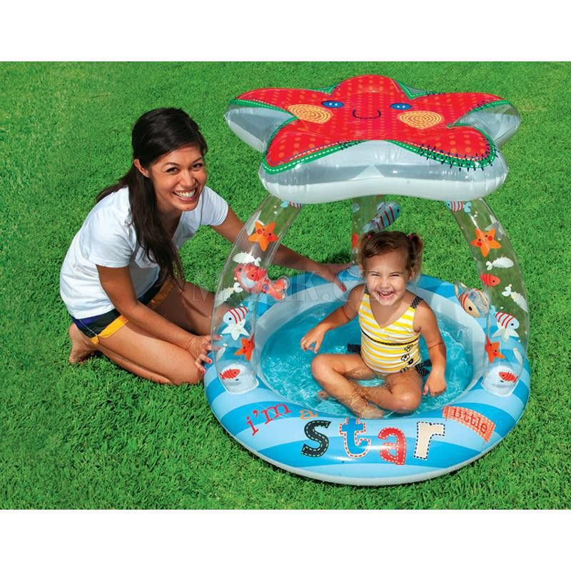 Intex Baby Pool Lil Star mit Dach (Poolparty) | intex poolparty ...
