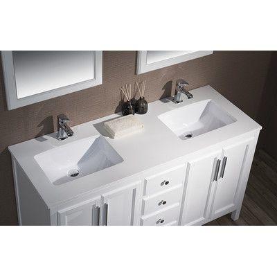 59 bathroom vanity double sink. Stufurhome Emily 59  Double Sink Bathroom Vanity Set Reviews Wayfair
