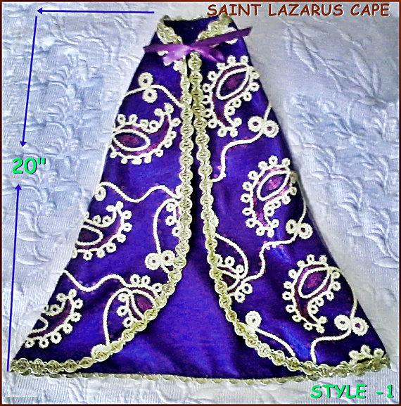 Santeria Yoruba  Satin Cape for saint lazarus/ CAPA para del