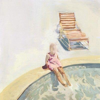 At Pools Edge | Paintings, Acrylics and Board art