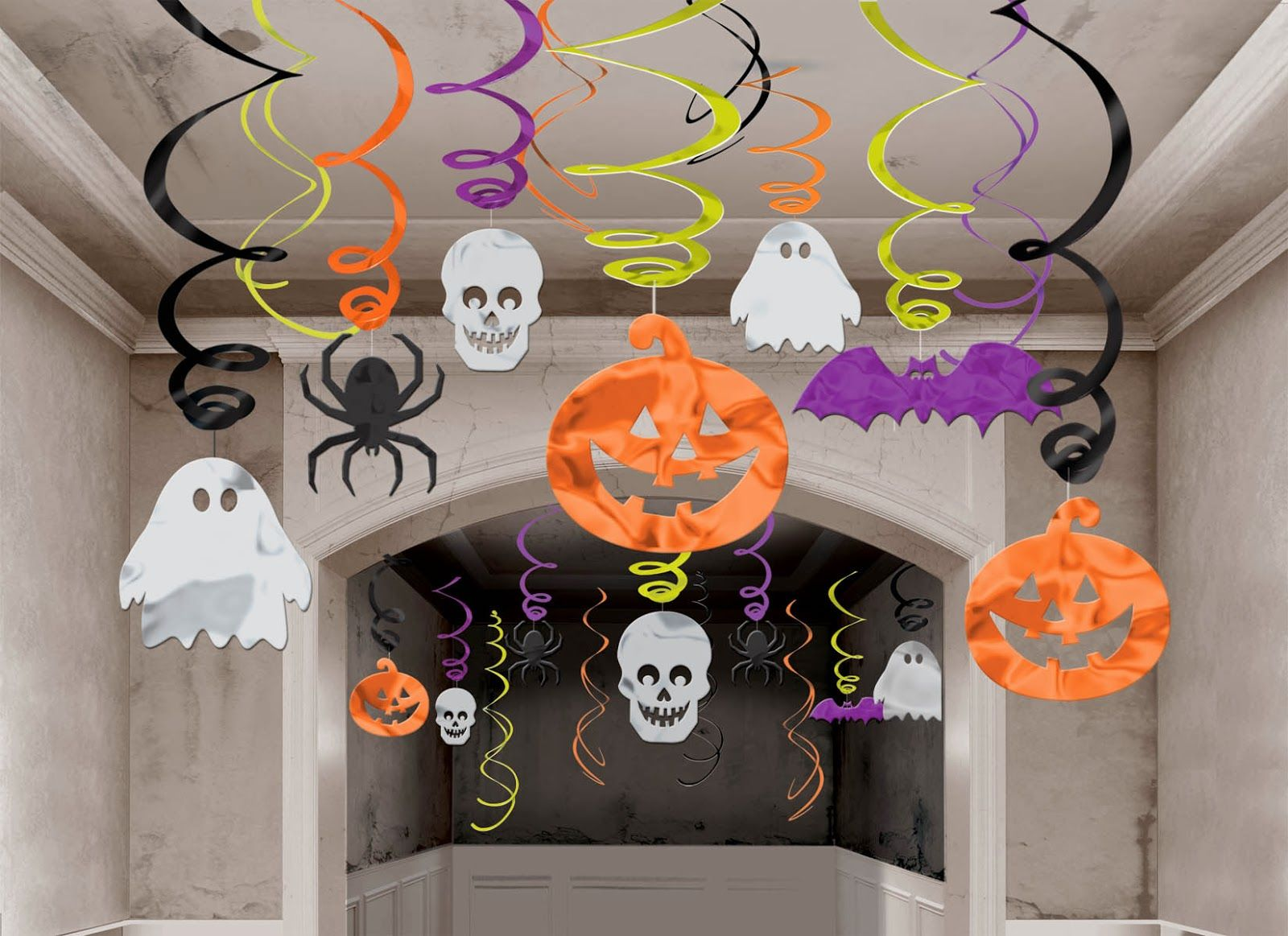 Halloween Hanging Swirl Decorations pack) by Amscan