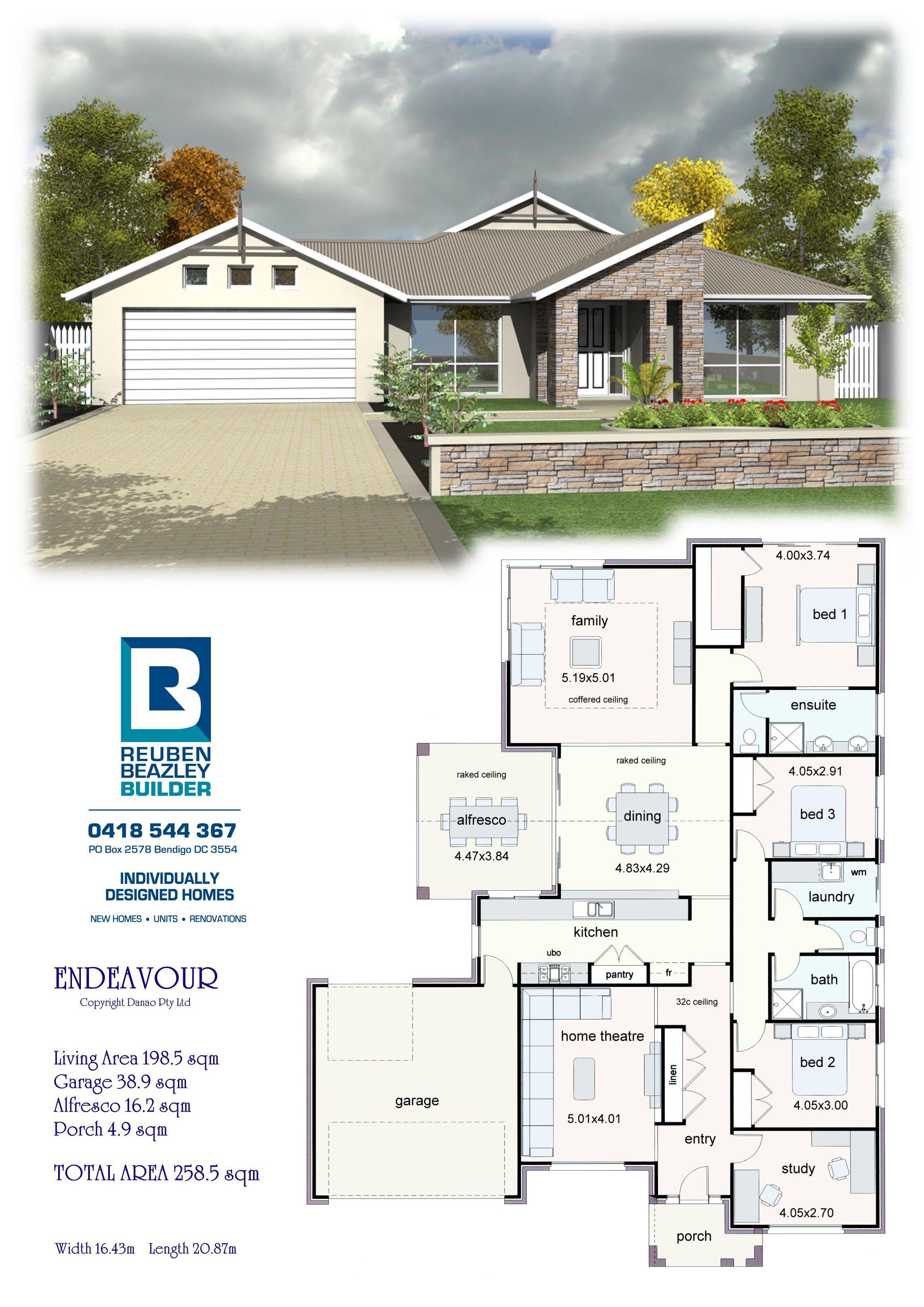 The Endeavour New House Plans House Blueprints Dream House Plans