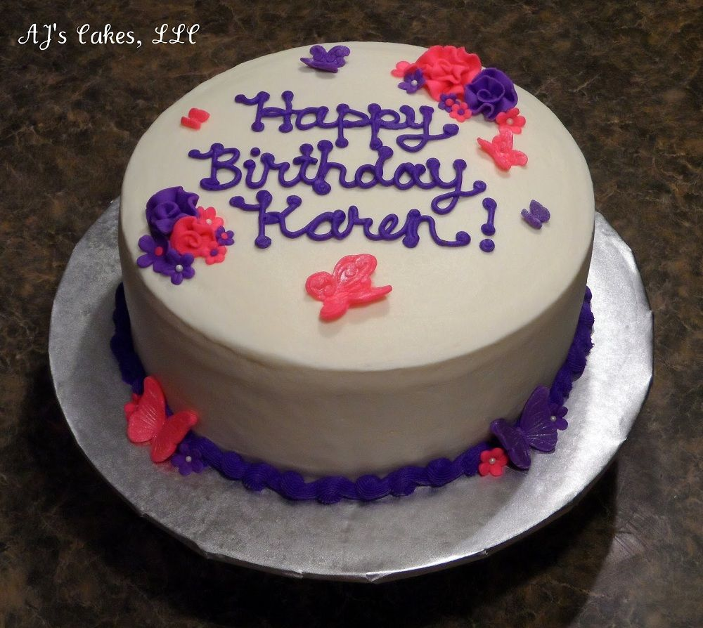 Happy Birthday Karen Cake Image in 2019