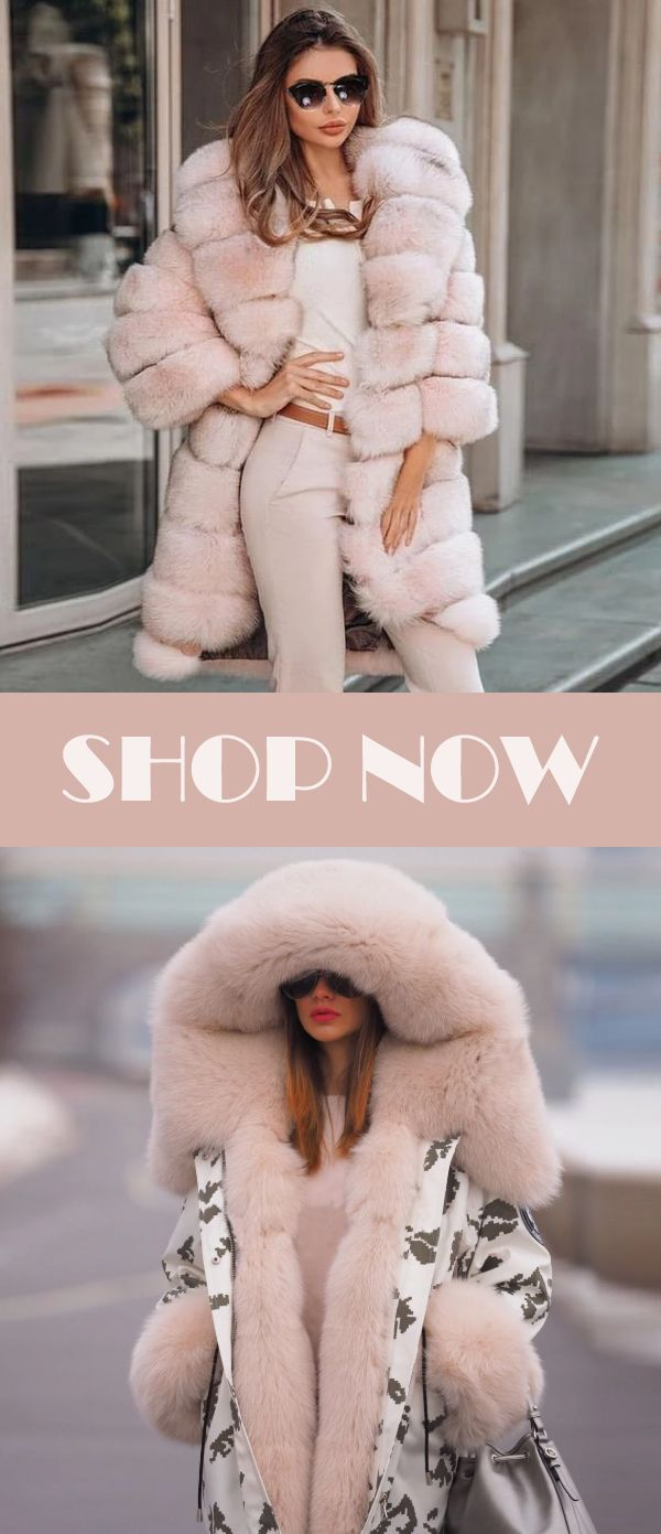 Ladies Warm Pink Coat For Cold Winter Day #kleidersale
