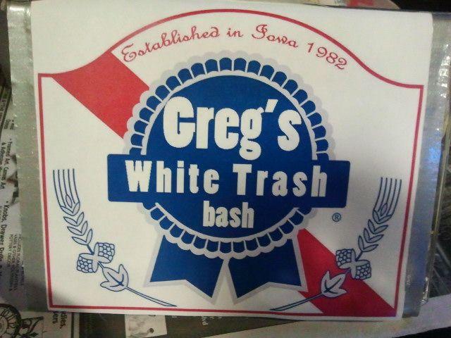 55bb7fd3 White trash bash custom PBR label via Who Are you wearing Hobo? blog ...