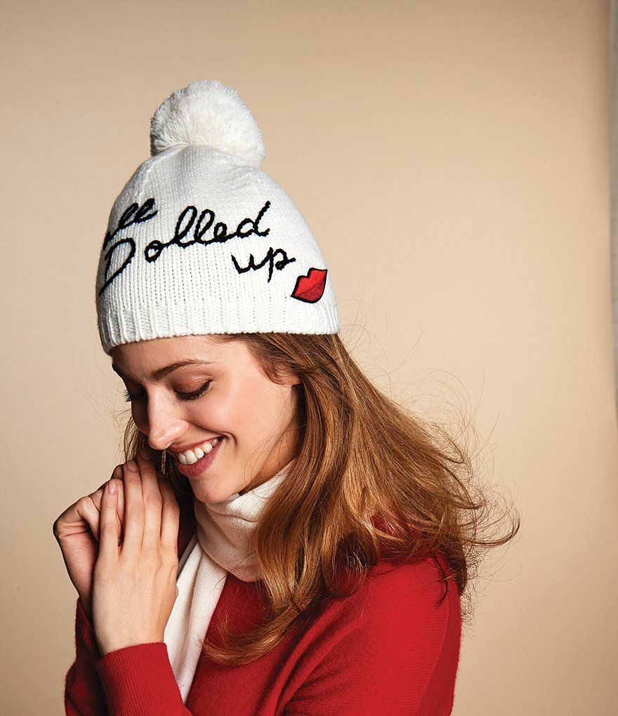 kate spade new york All Dolled Up Beanie with Pom  66087f96657