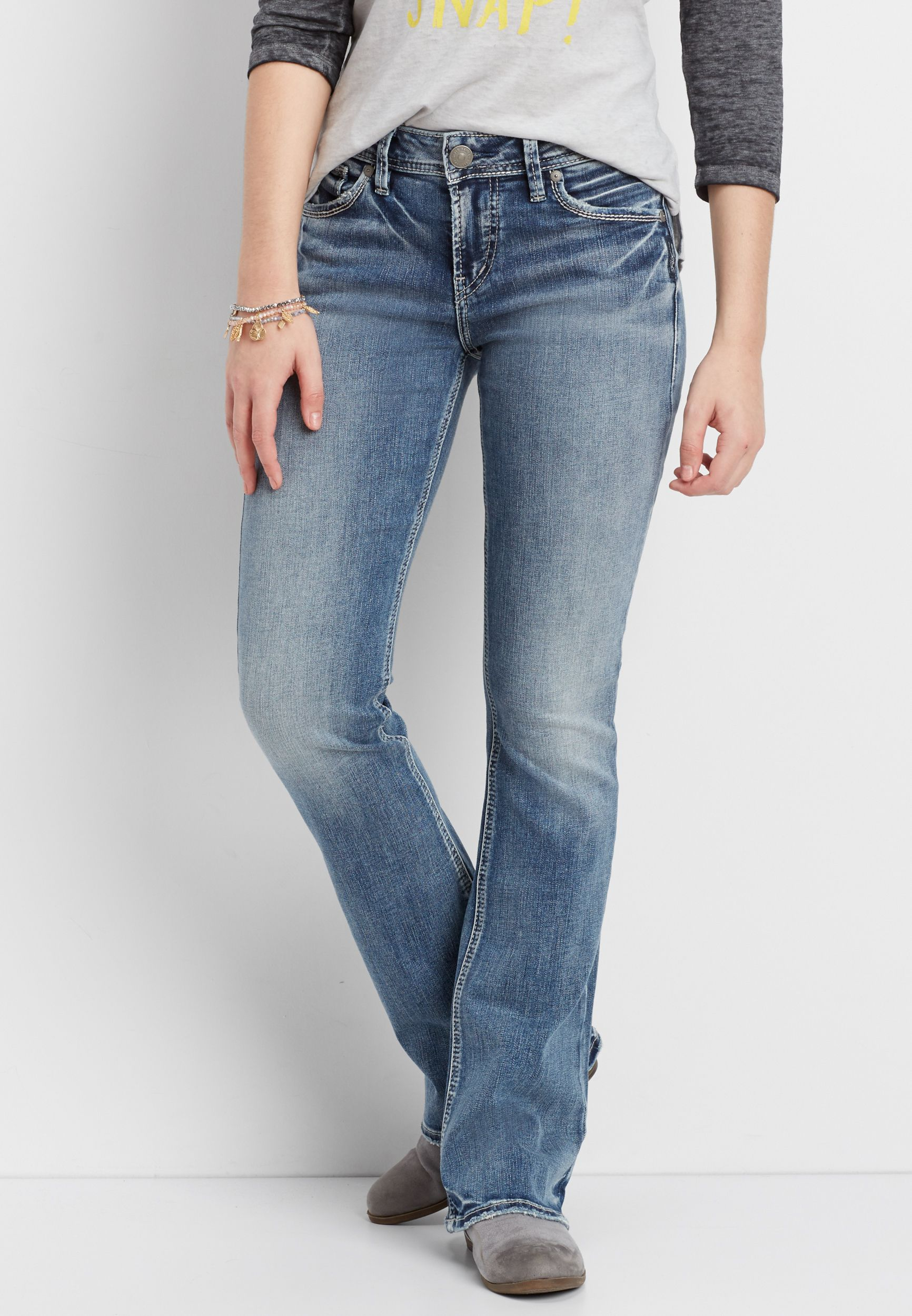 576b20c0 Silver Jeans Co.® Avery high rise medium wash bootcut jeans ...