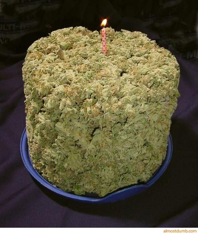 Amazing Marijuana Birthday Cake Not To Offend Anyone But I Find