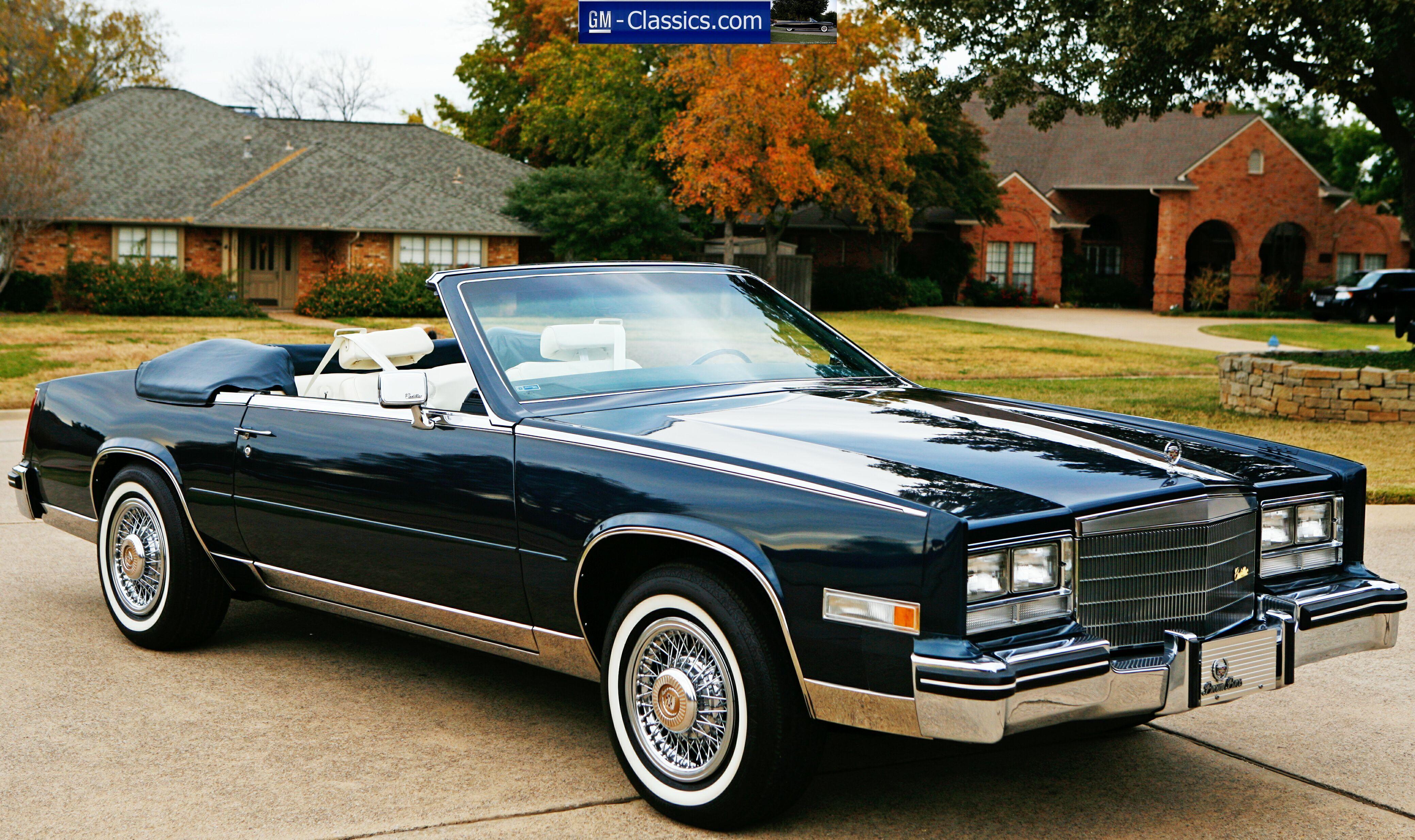 Worksheet. EXTREMELY RARE 1985 Cadillac Eldorado Biarritz Convertible