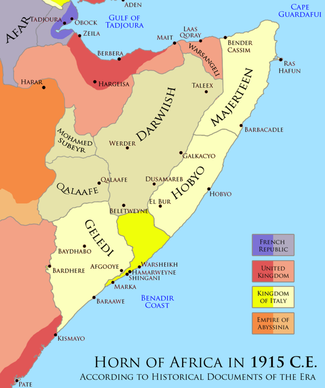Horn of Africa during 1915 | Human History | Horn of africa