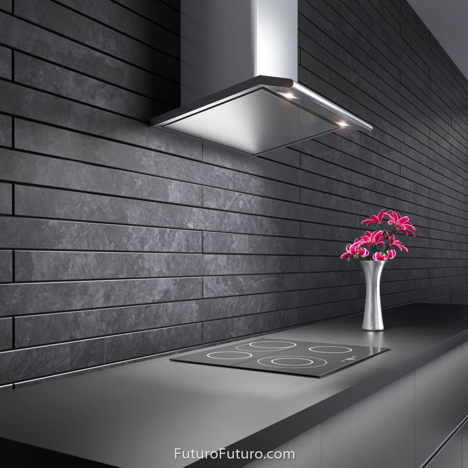 24 Capri Wall The Capri Line Of Kitchen Range Hoods By Futuro Futuro Features A Streamlined Slim De Range Hood Stainless Steel Lighting Ductless Range Hood