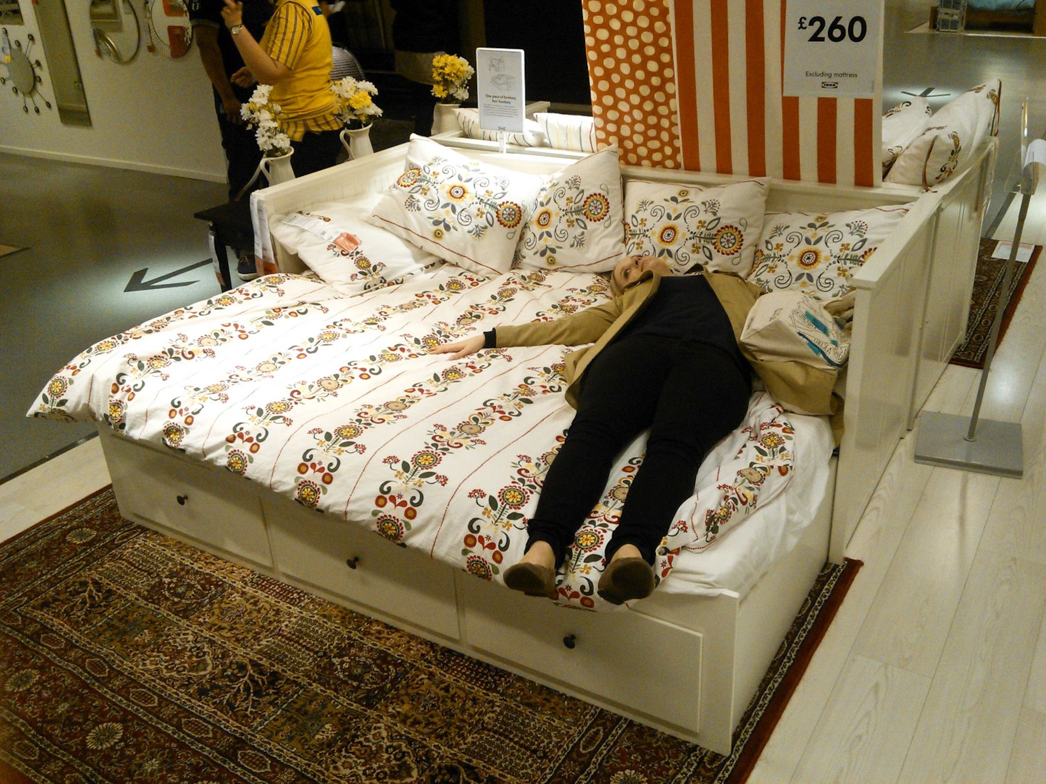 Hemnes Day Bed Ikea Home Styling Daybed Mattress